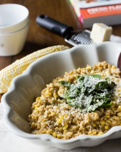 Sweet Corn Barley Risotto Recipe