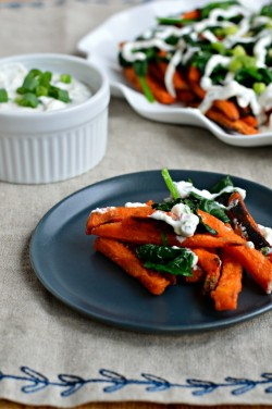 Sweet Potato Fries with Mint Yogurt