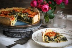 Swiss Chard-Courgettes-Quiche