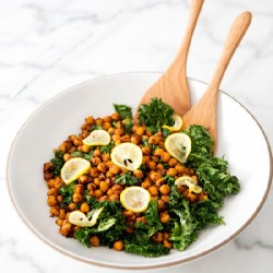 Toasted Kale / Pan Fried Chickpeas