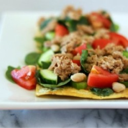 Tuna and White Bean Salad Pizza