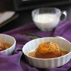 Upside Down Sticky Toffee Pudding with Kumquats and Salted Cashews Recipe