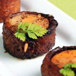 Vegan Bacon-Wrapped Scallops