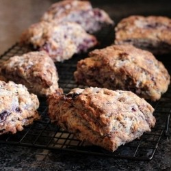 Whole Wheat Blackberry and Meyer Lemon Scones Recipes