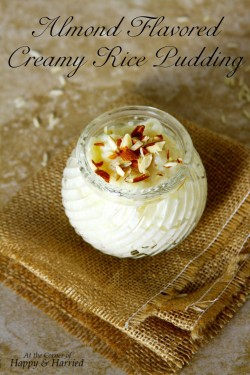 Almond Flavored Creamy Rice Pudding