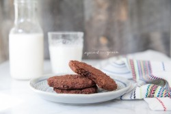 Almond Pulp Double Chocolate Cookie