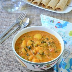 Aloo Methi Mutter Curry