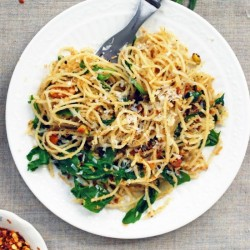Angel Hair Pasta with Pistachios