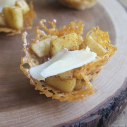 Apple Pie-Filled Cheddar Frico Cups