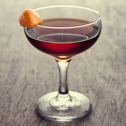 Arm yourself with this bourbon and coffee liqueur cocktail