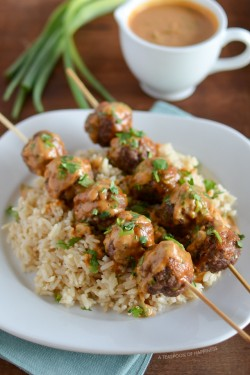Asian Meatball Satay