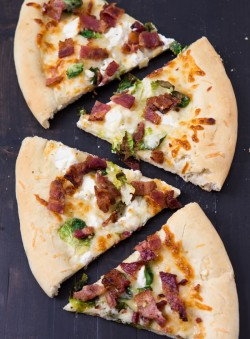 Bacon and Brussels Sprout Pizza
