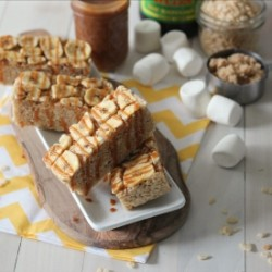 Bananas Foster Rice Krispie Treats
