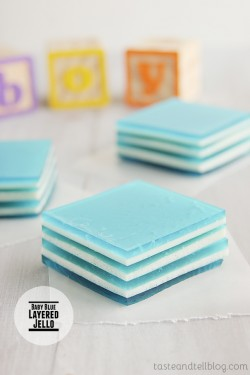 Blue Layered Jello
