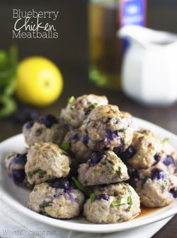 Blueberry Chicken Meatballs