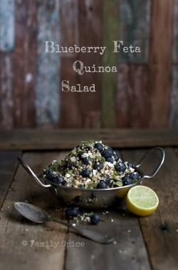 Blueberry Feta Quinoa Salad