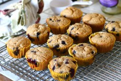 Blueberry Lemon Brown Sugar Muffins