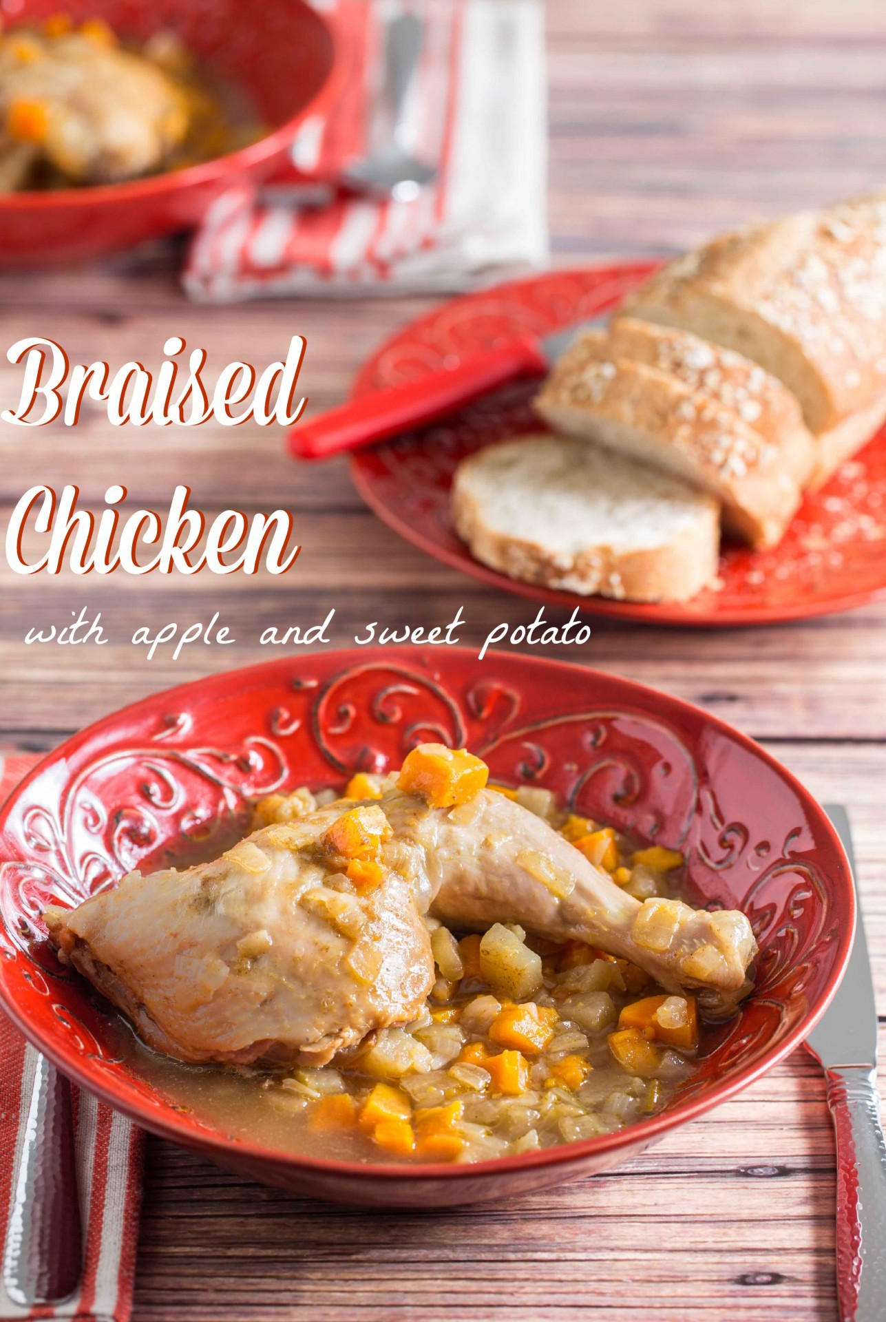 Braised Chicken with Apples