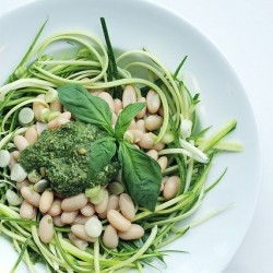 Cannellini, Courgettes and Basil