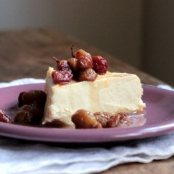 Cheesecake with Roasted Grapes Recipe