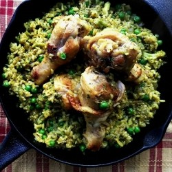 Chicken and Rice with Peas and Broccoli Recipe