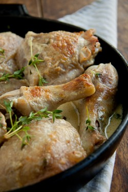Chicken Braised in White Wine