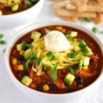 Chicken Enchilada Soup: Slow Cooked