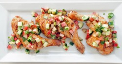 Chicken Thighs With Cucumber Salsa