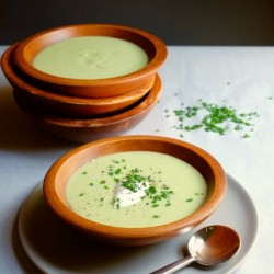 Chilled Avocado Cucumber Soup