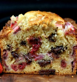 Chocolate Chunk Strawberry Loaf