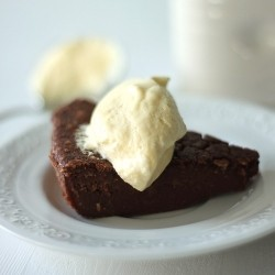 Chocolate Pudding with Vanilla Custard