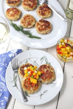 Cod Cakes with Spicy Mango Salsa Recipe