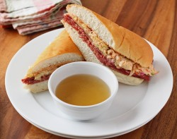 Corned Beef Sandwich with Au Jus