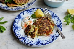Courgette and Feta Cheese Fritters
