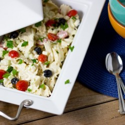 Creamy Farfalle and Feta Pasta