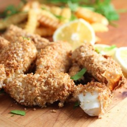 Crispy Oven Baked Fish and Chips!
