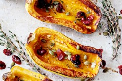 Delicata with Cranberries