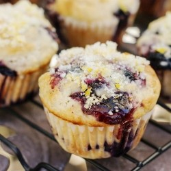 Double Blueberry Muffins with Citrus Sugar Recipe