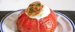 Egg Cheese Stuffed Tomato Recipe