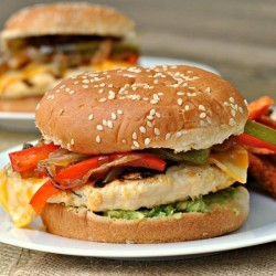 Fajita Chicken Burgers