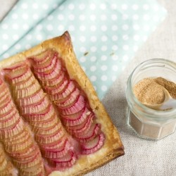 Flaky Pastry Rhubarb Squares