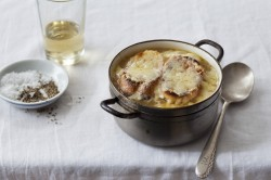 French Onion Soup with Bone Marrow