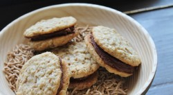 Fudge Filled Oatmeal Sandwich Cookies Recipe