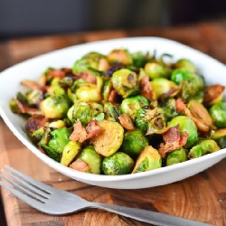 Garlic Bacon Brussel Sprouts