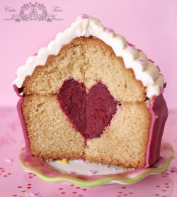Giant Muffin with Heart