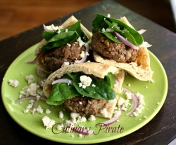 Greek Lamb Slider Pita Pockets