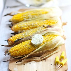 Grilled Corn with Za'atar Butter