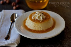 Hazelnut Flan Pressure Cooker Recipe