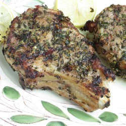 Herb Crusted Veal Chops