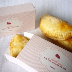 Homemade Apple Hand Pies and a Template for a Custom Box